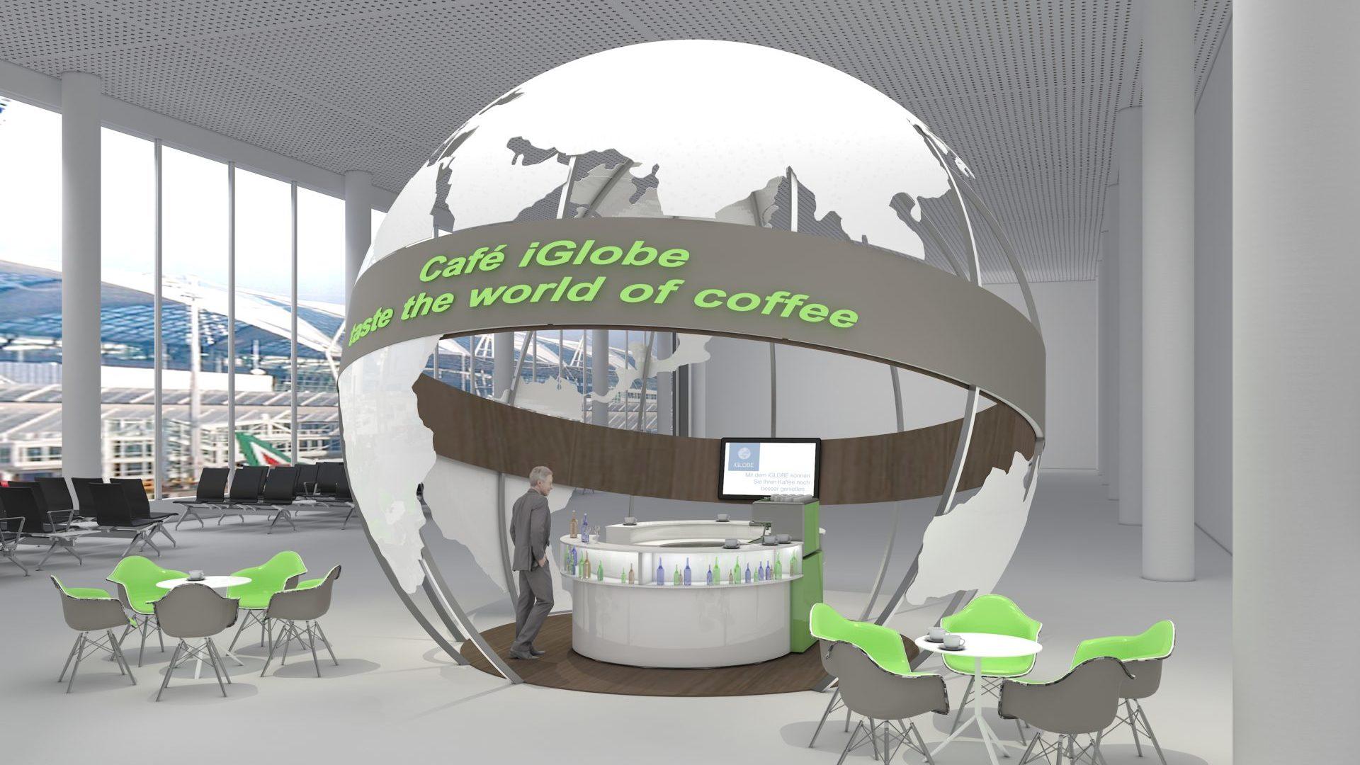 IGLOBE - Kaffeewelt - Variante - als Kaffebar individualisierbar.